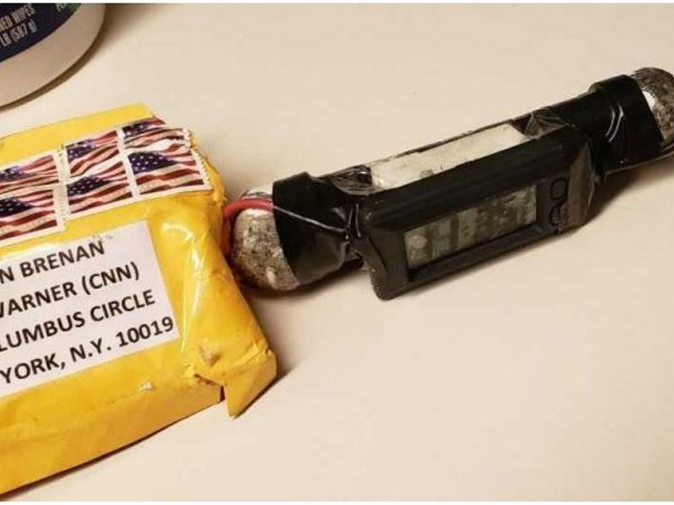 The package sent to CNN. Pic: ABC News