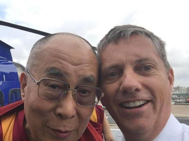 Eric Swaffer with the Dalai Lama