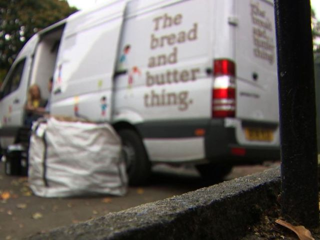 "The food redistribution service ""The Bread and Butter Thing"" helps some families in Oldham"