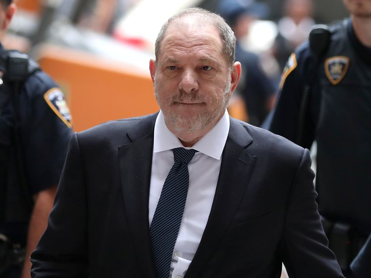 Harvey Weinstein arrives at the New York Supreme Court in Manhattan
