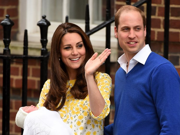 Knightley gave birth around the same time Princess Charlotte was born