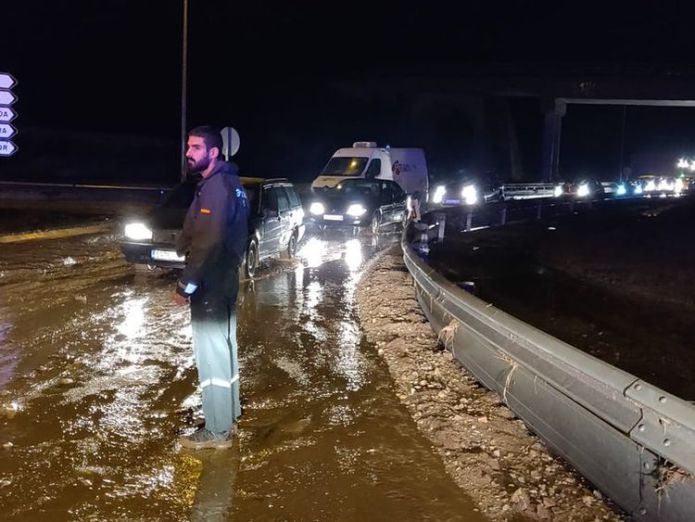 Flooding in Mallorca Pic: Twitter @guardiacivil  Two Britons among eight dead in Majorca flooding skynews mallorca flooding majorca 4448646