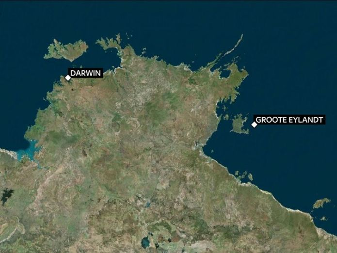 The man was working on a trawler 70 miles south of Groote Eylandt  British man dies after being bitten by a sea snake skynews map of groote eylandt 4443605