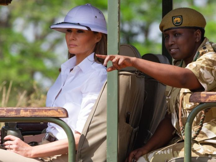 Melania Trump was likened to a colonial administrator  I don't always agree with my husband, and I tell him so skynews melania trump trump 4444620