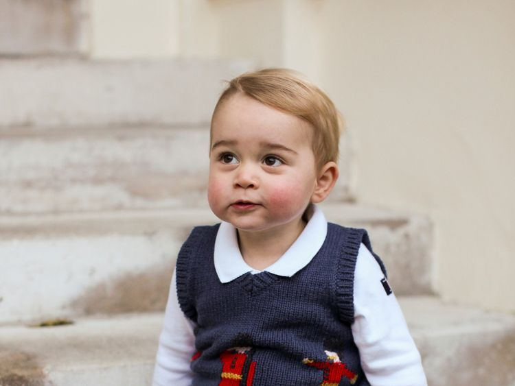 Prince George wearing a Catherine Kidston tank top