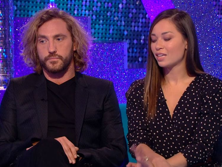 Seann Walsh and Katya Jones have appeared on the Strictly spin-off show It Takes Two on Wednesday. Pic: BBC