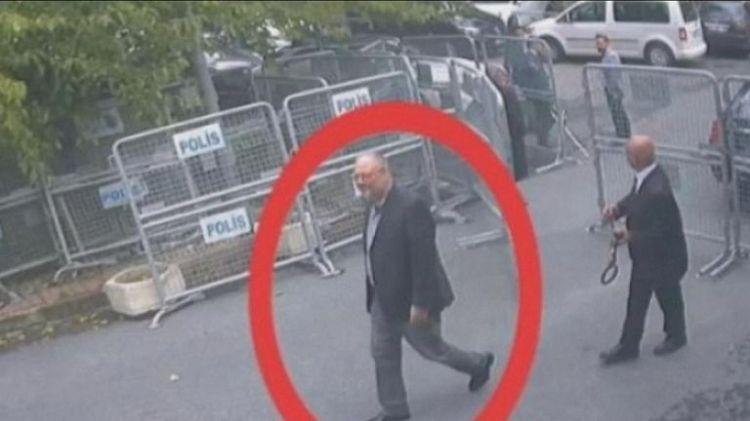 The journalist appeared relaxed when he walked into the consulate on 2 October
