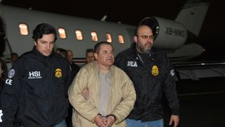El Chapo arriving in the US in 2017 after his extradition to Mexico