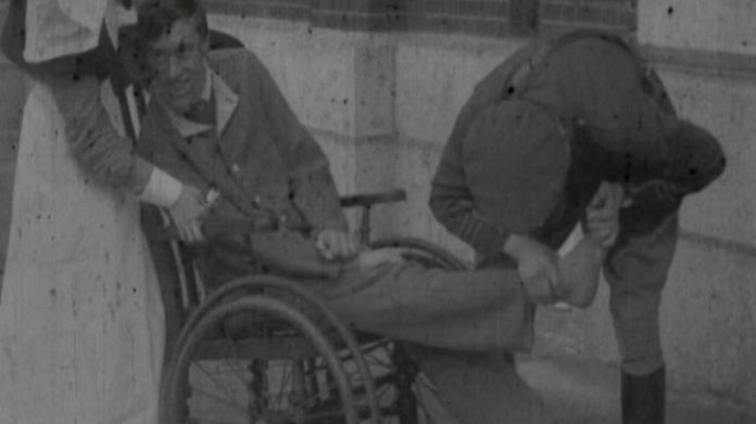 Percy survived the war, but he had suffered severe shell shock as a result of the constant bombardment in the trenches which left him paralysed.  The village that brought its fallen soldiers back to life skynews percy shellshock ww1 4480544