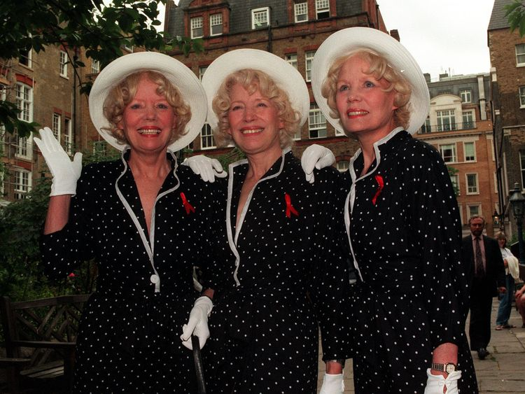 The Beverley Sisters (left to right) Babs, Joy and Teddie. Babs Beverley