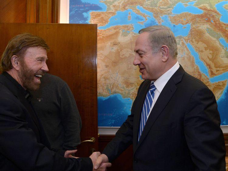 Norris meets Israeli Prime Minister Benjamin Netanyahu