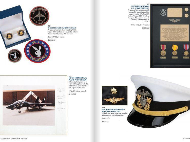 Hugh Hefner auction. Pic: Julien's Auctions