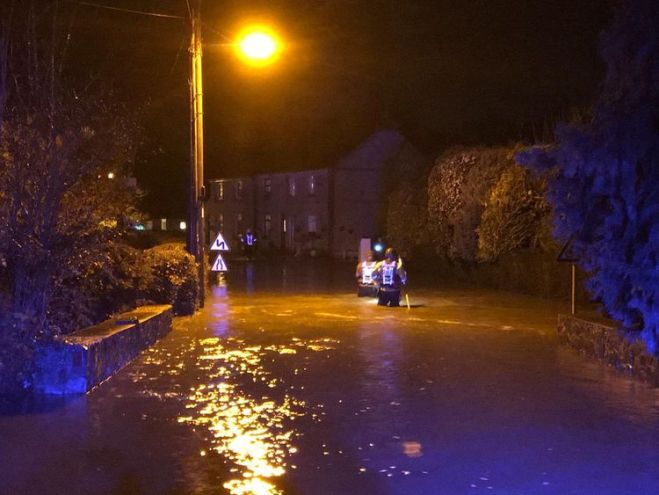 Homes were evacuated as the water levels rose