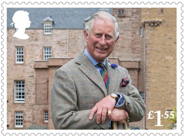 Eine Briefmarke kennzeichnet Charles alleine