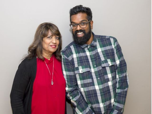 Romesh Ranganathan with mum Shanthi for Loose Women in 2015