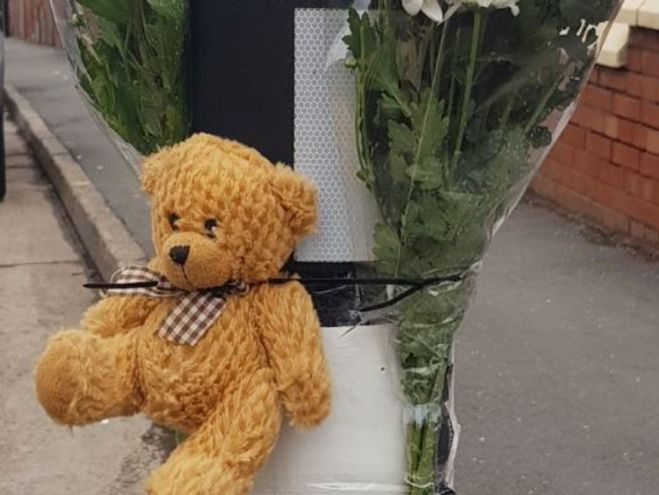 Tributes have been left at the scene of the crash