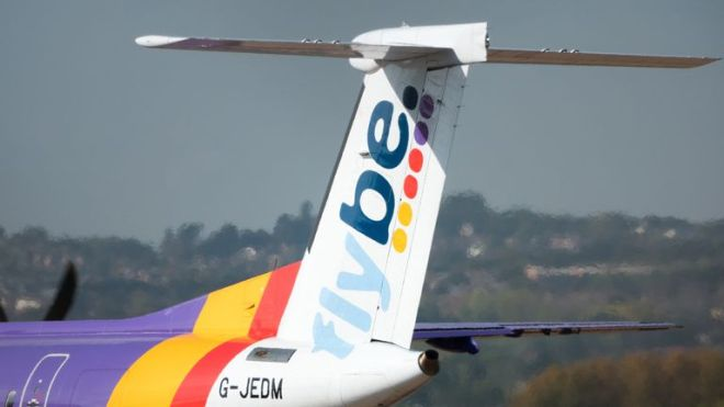 """A Flybe plane went """"nose down"""". File pic"""
