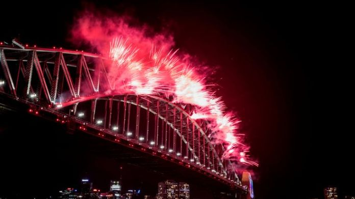 The city's Harbour Bridge is the focal point for the pyrotechnic extravaganza