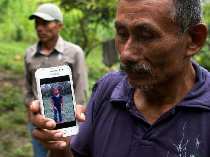 Domingo Caal, 61, grandfather of Jakelin, a 7-year-old girl who died in U.S. custody, outside her house in Raxruha, Guatemala