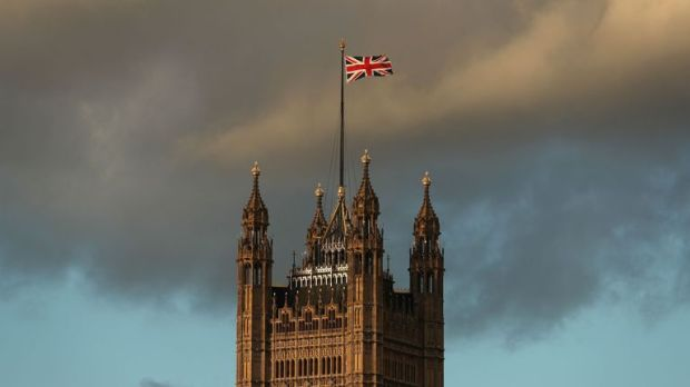 A Union flag flies from atop the Victoria Tower of the Palace of Westminster in central London, on December 7, 2018. - British MPs will hold a crucial vote on December 11 to approve or reject the Brexit deal agreed by Prime Minister Theresa May an EU leaders. (Photo by Daniel LEAL-OLIVAS / AFP) (Photo credit should read DANIEL LEAL-OLIVAS/AFP/Getty Images)