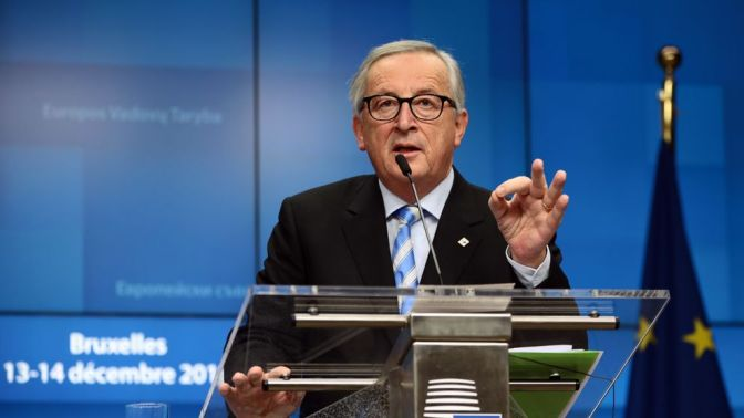 Mr Juncker has called Theresa May a woman of 'great courage'