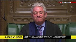 John Bercow's decision to allow an amendment that would force the government to reveal its Brexit 'Plan B' within several days.