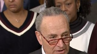 Chuck Schumer urges Donald Trump 'not to hold government workers hostage'