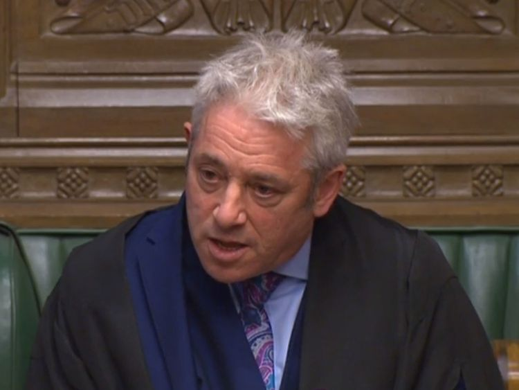 El presidente de la Cámara de los Comunes, John Bercow