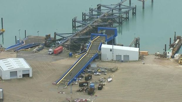 GV from Ramsgate, where Seaborne Freight are beginning dredging to prepare for a no deal Brexit