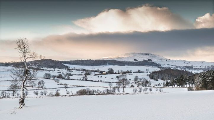 A rural view of Richmondshire in winter snow
