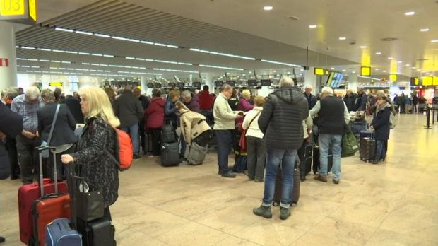 The strike has affected airports, sea ports and rail traffic