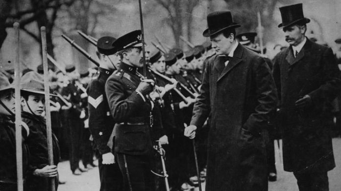 Winston Churchill as Minister of the Interior in 1910