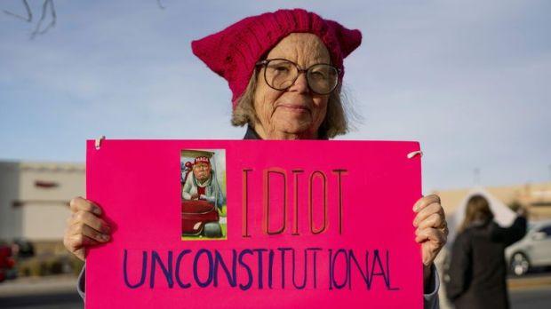 Protests against the emergency declaration also took place in New Mexico