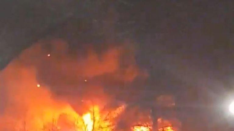 L'incendie à l'hôpital Sir Robert Peel à Staffordshire