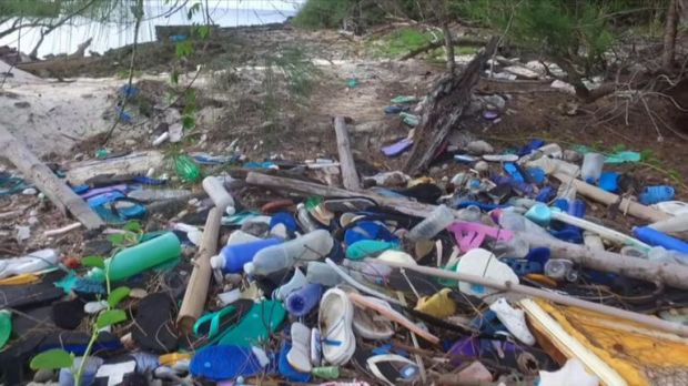 Bottles and flip-flops are among the items to have washed ashore