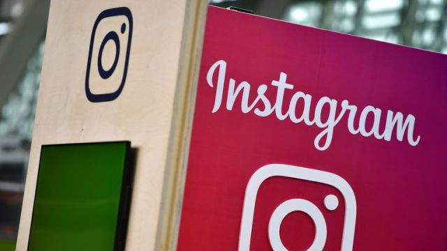 HANOVER, GERMANY - JUNE 12: The Instagram logo is displayed at the 2018 CeBIT technology trade fair on June 12, 2018 in Hanover, Germany. The 2018 CeBIT is running from June 11-15. (Photo by Alexander Koerner/Getty Images)