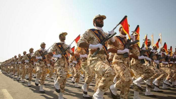 Members of the Iranian Revolutionary Guards. File image
