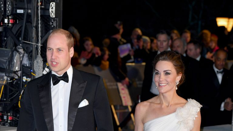 The Duke and Duchess of Cambridge are in attendance