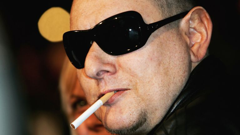 Shaun Ryder arrives at the live final of the UK Music Hall Of Fame 2005, the culmination of the two-week Channel 4 series looking at 1950's-1990's popular music, at Alexandra Palace on November 16, 2005