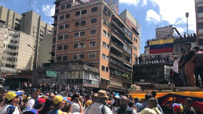 Crowds flocked to see 'superstar' Guaido