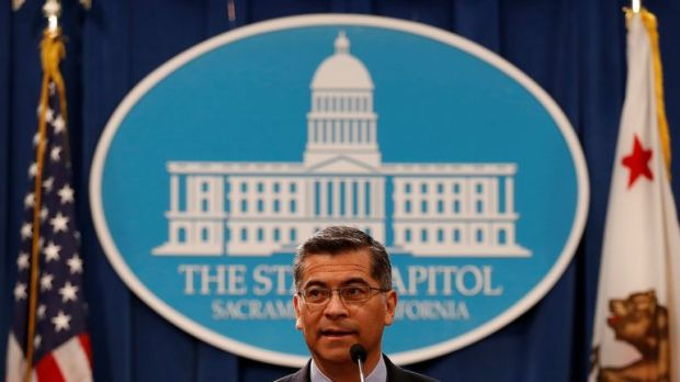 California Attorney General Xavier Becerra has said Mr Trump 'treats the rule of law with utter contempt'