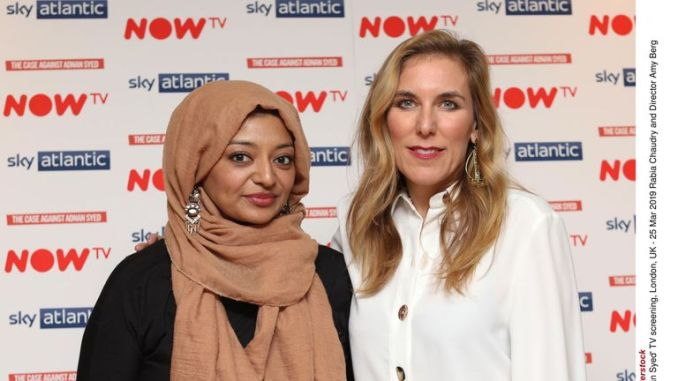 'The Case Against Adnan Syed' TV screening, London, UK - 25 Mar 2019 Rabia Chaudry and Director Amy Berg  25 Mar 2019
