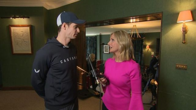 Andy Murray and Jacquie Beltrao