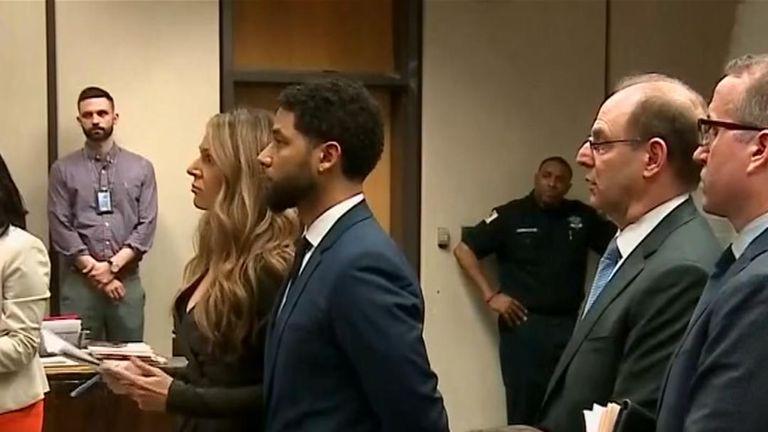 Jessie Smollett appears in court