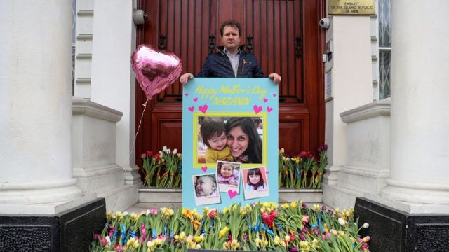 Richard Ratcliffe delivered a card for his wife signed by nearly 20,000 people to the Iranian embassy