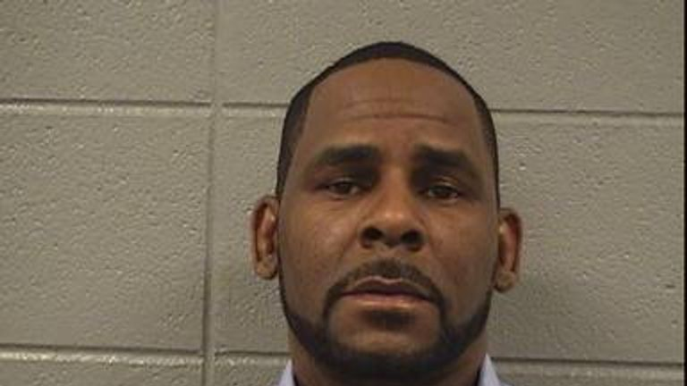 Singer Robert Kelly, known as R. Kelly, is pictured in Chicago, Illinois, U.S., in this booking photo. Cook County Sheriff's Office