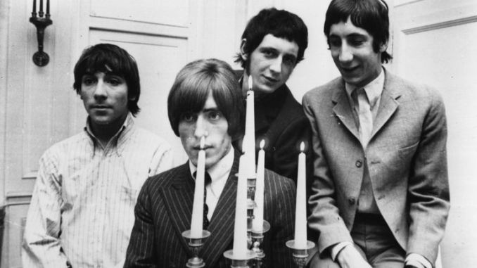 The Who's original line up consisted of (l-r) drummer Keith Moon, Roger Daltrey (vocals), John Entwistle (bass guitar) and Pete Townshend (guitar)