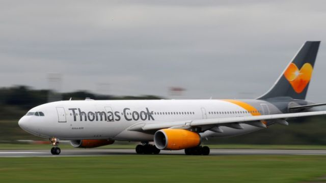 Thomas Cook flight. File pic