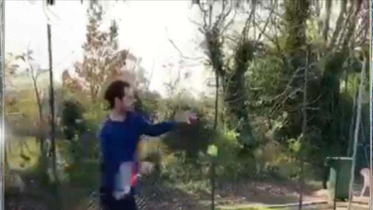 Andy Murray, 31, has shared the first footage of himself hitting a tennis ball since January.