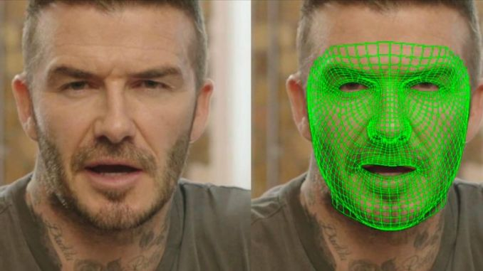 AI is used to make it appear as though David Beckham is speaking nine languages. Pic: Malaria Must Die